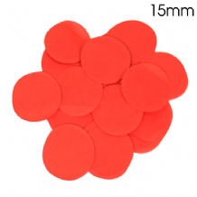 Red Tissue Paper Confetti | 15mm Round | 14g Bag